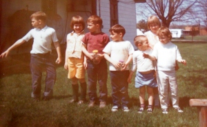 May 1969 Me, my sister Cory, my brother,  cousins Kelly, Jeff,Glen and I think RIcky